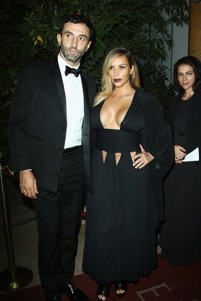 kim kardashian black evening dress by Givenchy