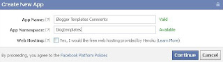creating facebook comments application for blogger