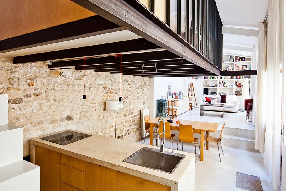 Un loft su tre livelli a Parigi