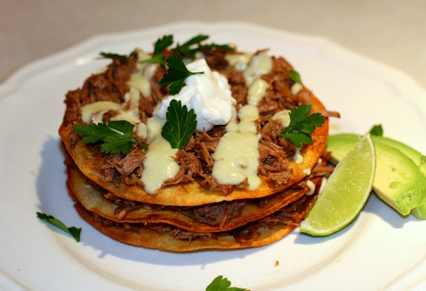 Recipes For Divine Living: Beef Tostadas with Green Chile ...