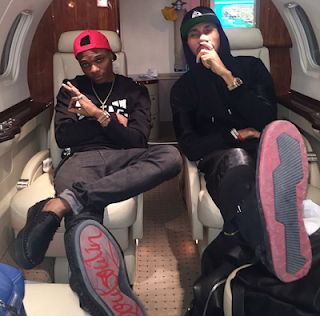 Wizkid and Phyno Travel  on a Private Jet for MAMA