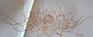 Risco para pintura em tecidos-Rosas