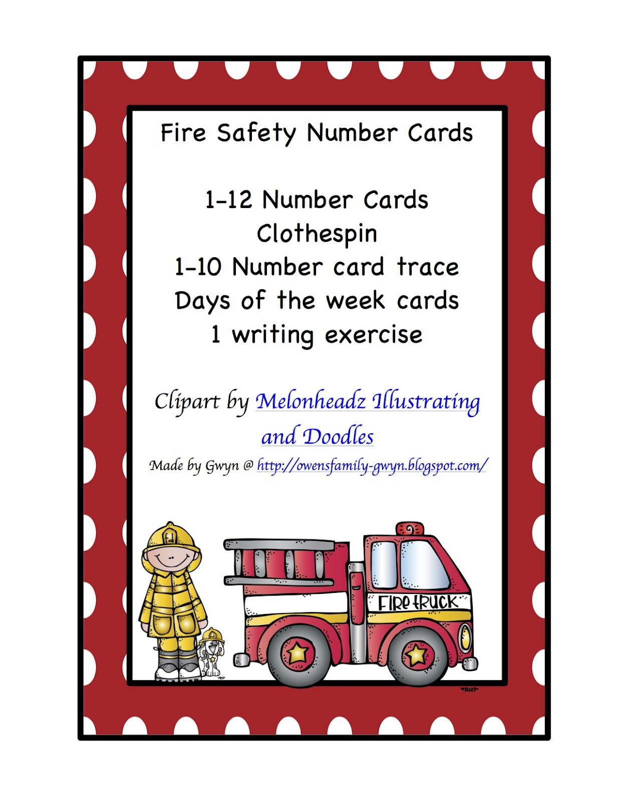 Fire Safety Worksheets Preschool http://owensfamily-gwyn.blogspot.com/2012/09/fire-safety-number-cards.html