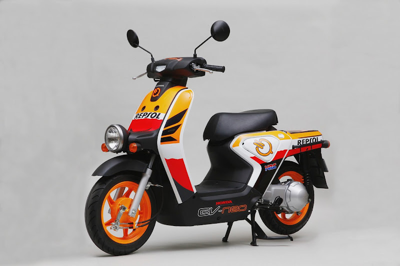 Repsol Honda EV-neo Electric Scooter Side View