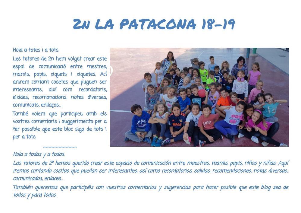 2n LA PATACONA 18-19