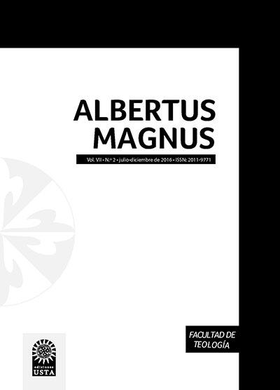 Artículos Revistas Albertus Magnus. Facultad de Teología. Universidad Santo Tomás