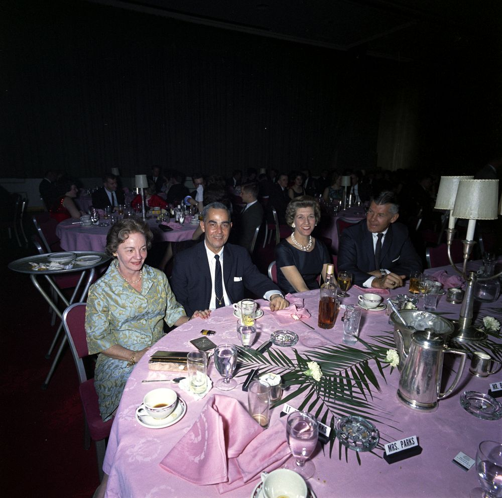 SAIC Gerald Behn and wife Jean at the 1/8/63 WHCA dinner