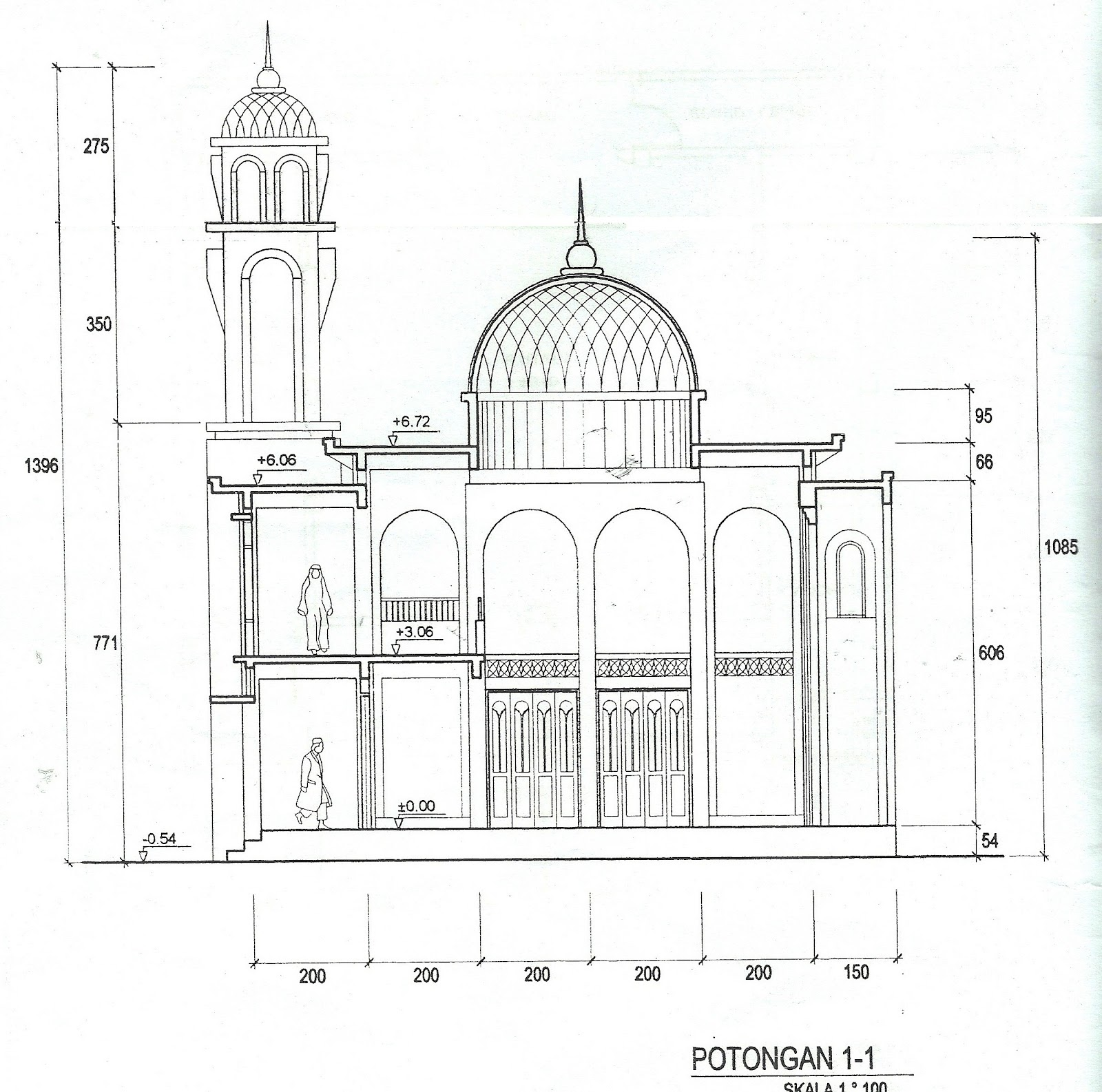 denah rencana bangunan mushola blog masjid at taqwa
