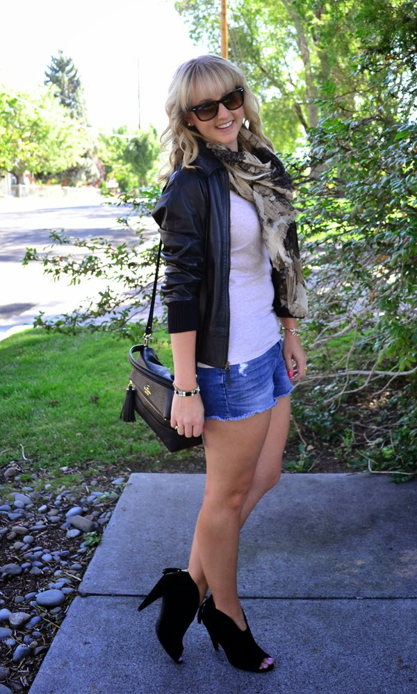 leather jacket, fall transition pieces, fashion blog