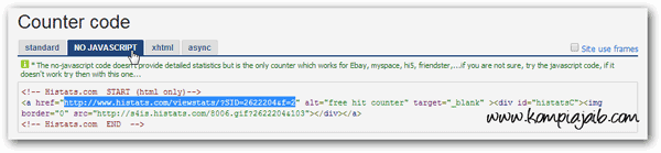 Kode No-Javascript Histats