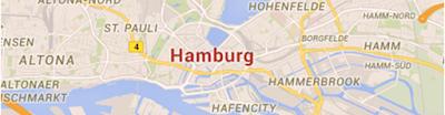 Sehenswürdigkeiten in Hamburg auf der Karte