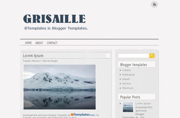 Free News Blog Chrome Jquery Blogger Theme Template