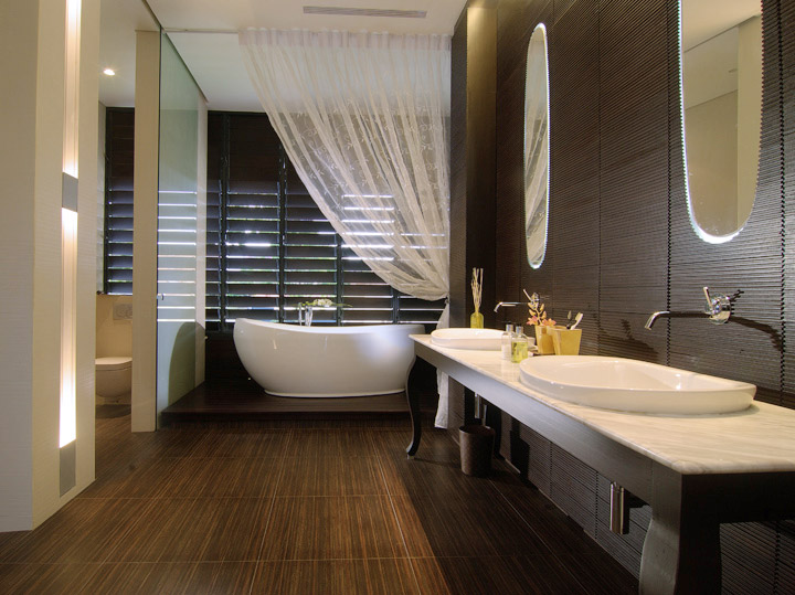 Banheiras spa ideias decora o mobili rio for Latest bathroom designs 2015