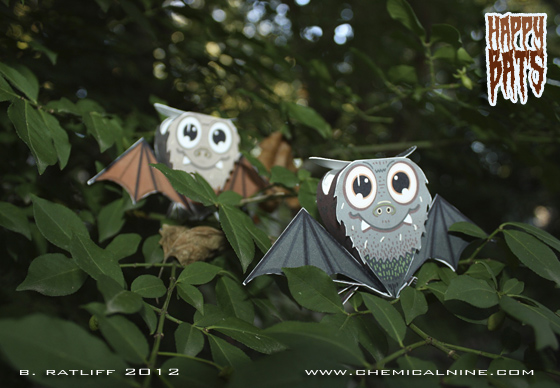 Happy Bats Paper Toy