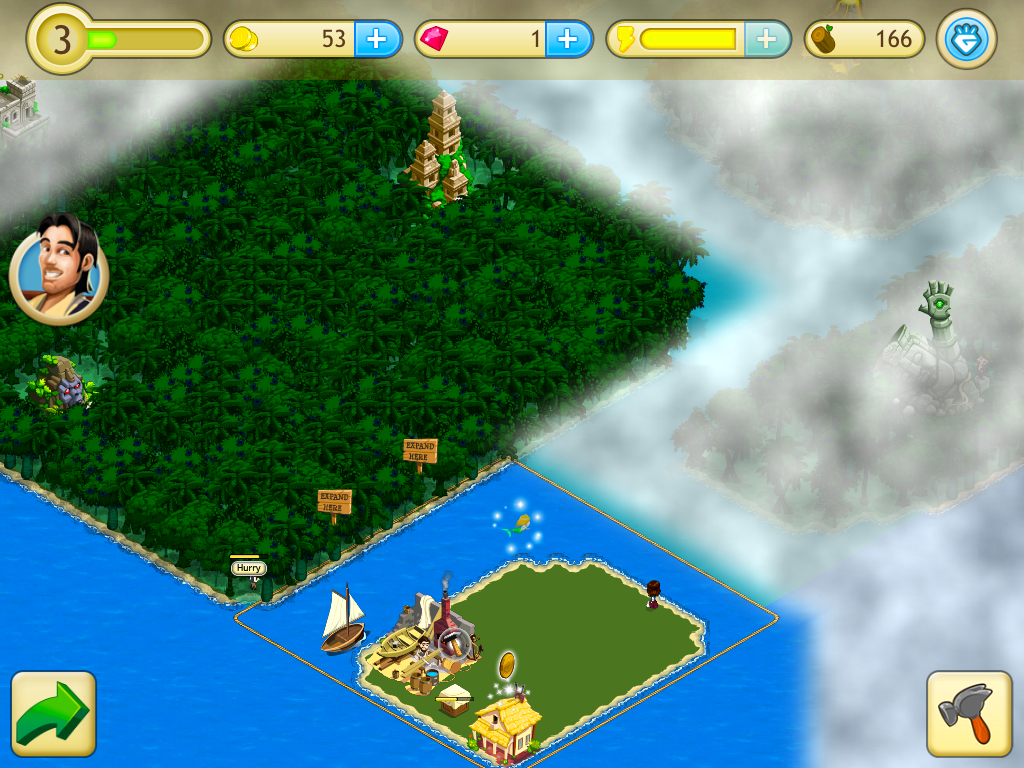 Paradise Cove is a IOS game like Boom Beach