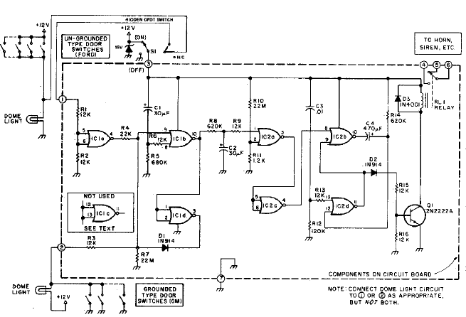 vehicle security system alarm electronics project