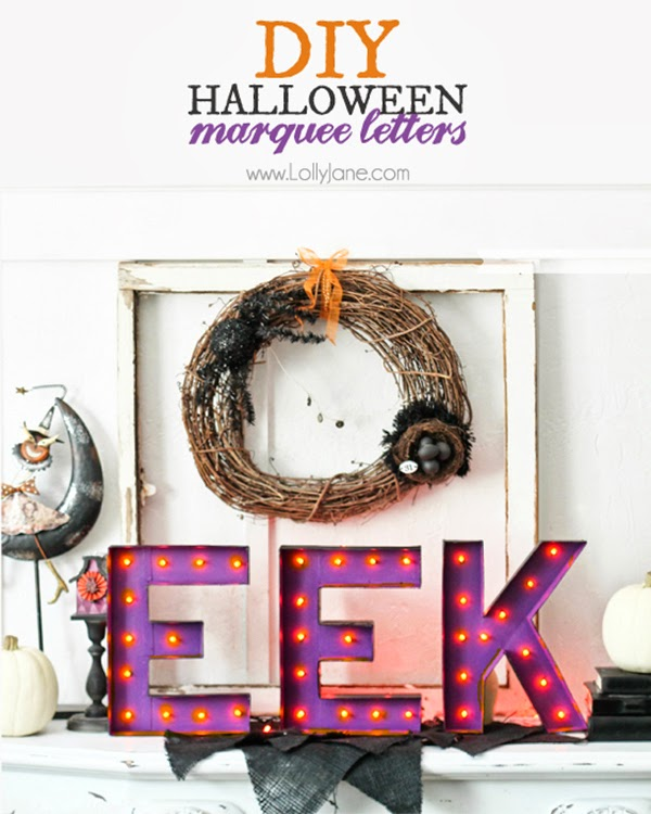 DIY Marquee letters for Halloween Tutorial