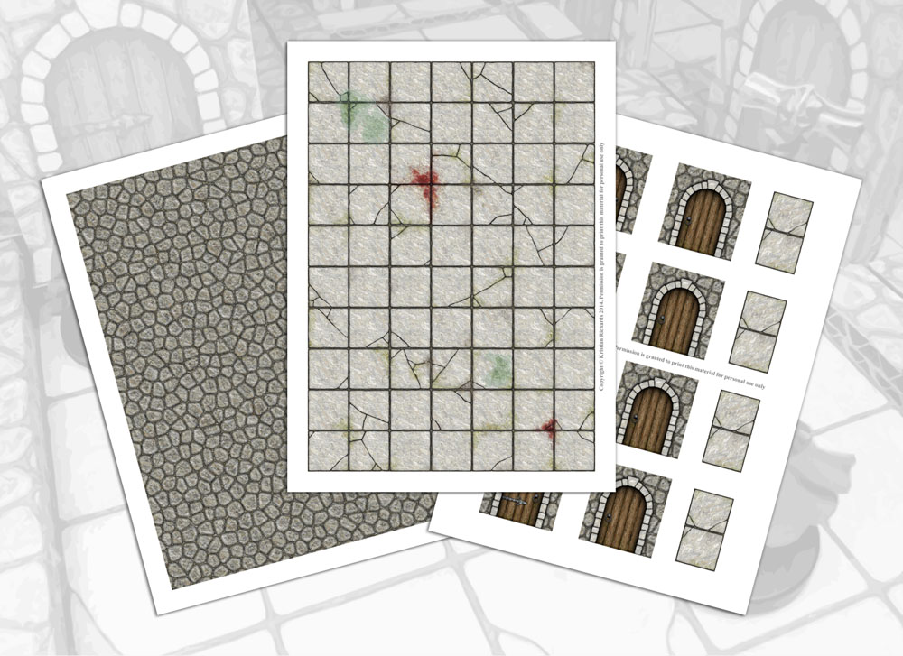 Challenger image for printable dungeon tiles pdf