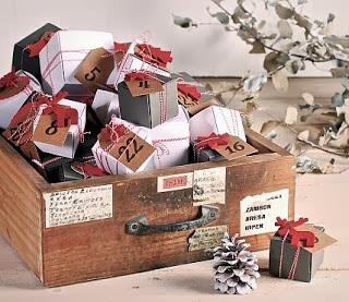 calendrier avent, décoration de Noël