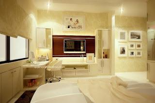 kamar tidur utama - tv