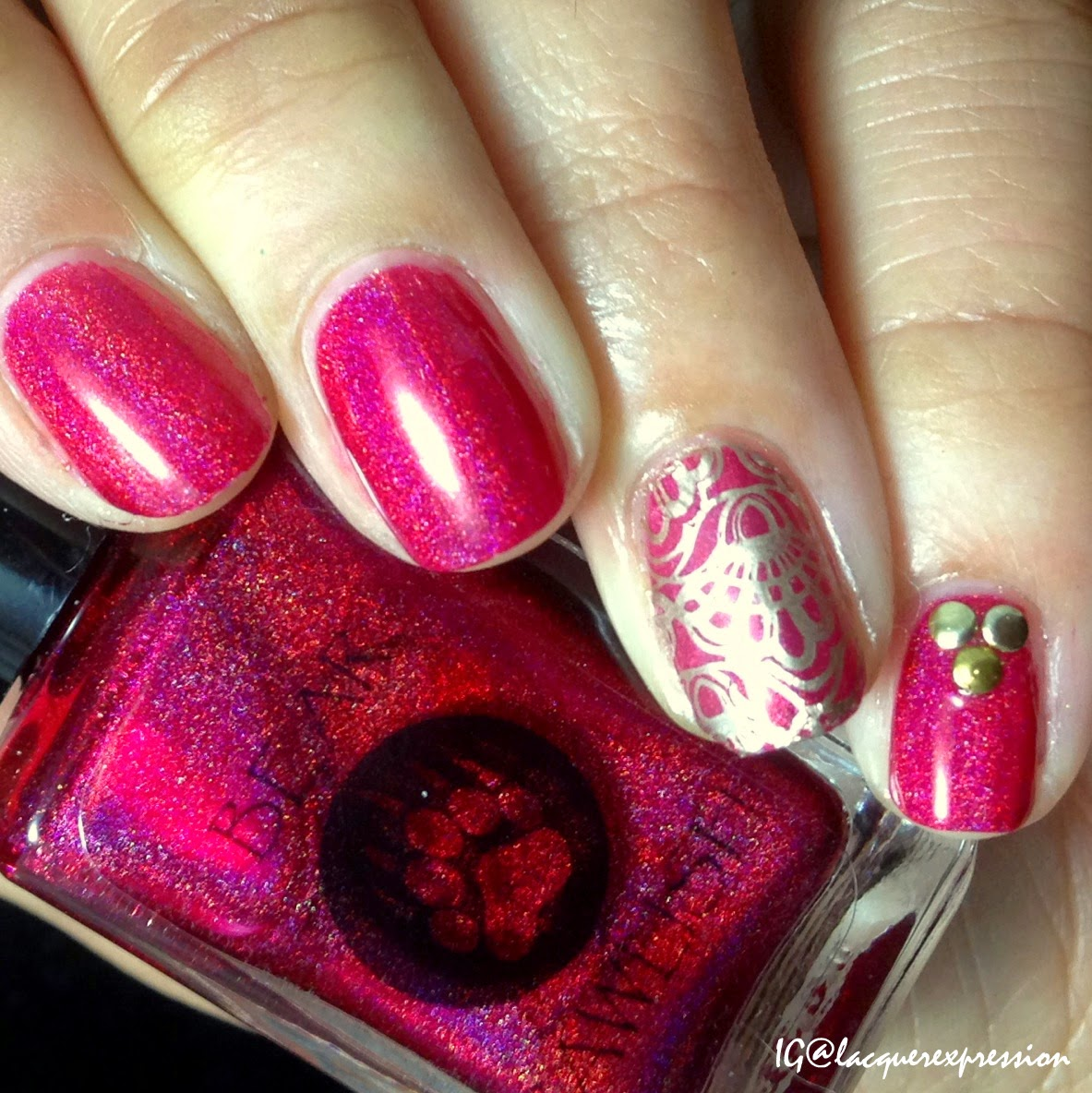 swatch of she's a fish killer nail polish by bear pawlish