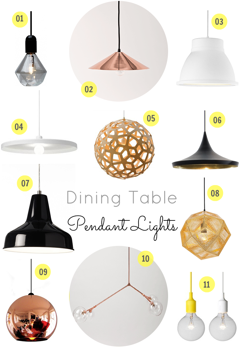 T D C Interior Styling Dining Table Lighting