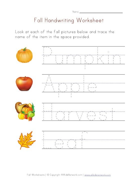 Fall Worksheets For Kindergarten : Homeschool parent october