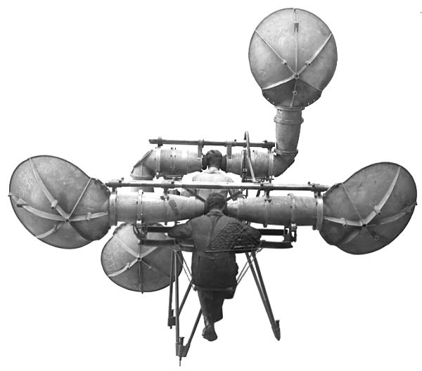 Four-horn acoustic radar, czech, 1920-an