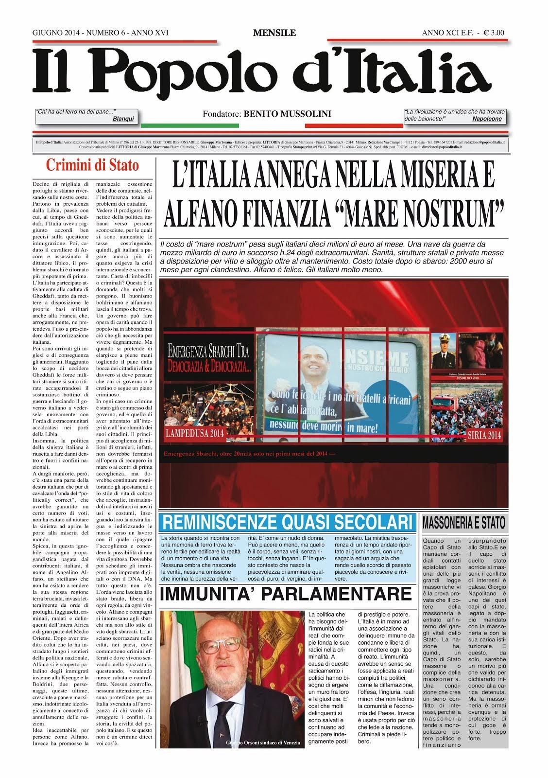 Il Popolo d'Italia Giugno 2014