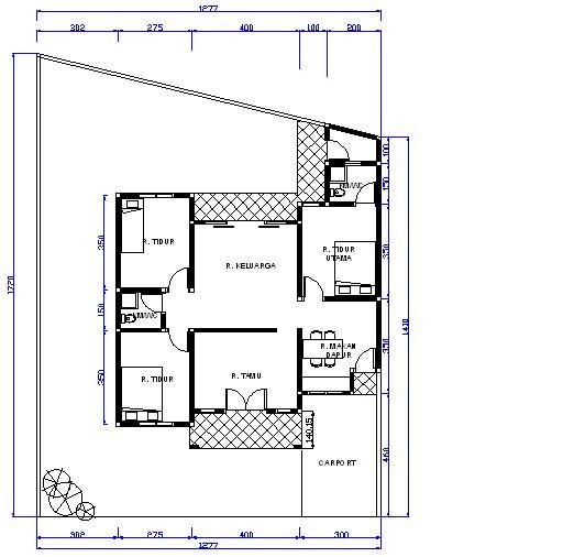 denah rumah dengan luas tanah 6x12m download short news