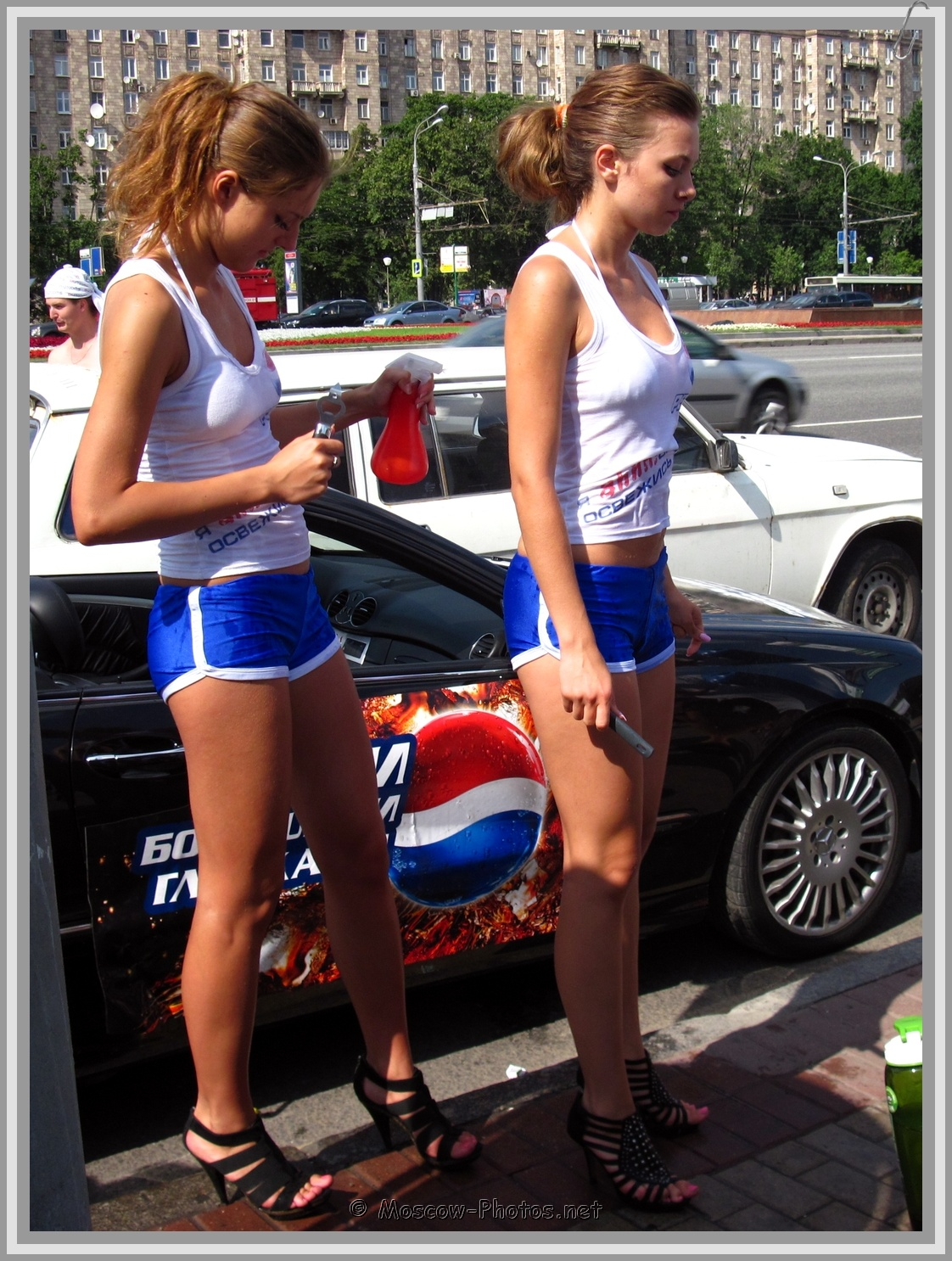 Pepsi girls in  tight mini shorts