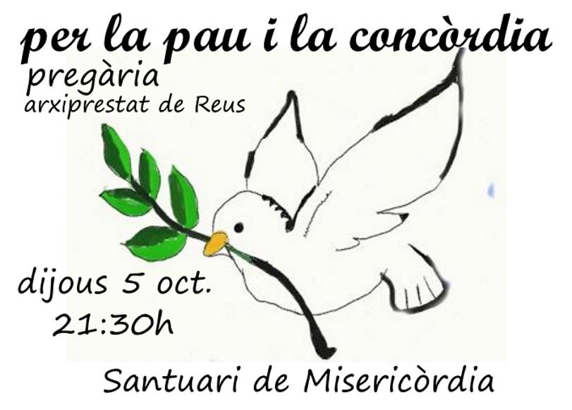 Video resum de la pregària per la pau i la concòrdia (5-10-2017)
