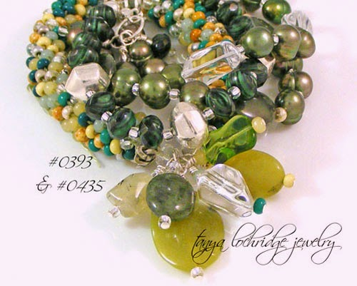 Green Jade, Crystal Quartz Gemstone & Pearl Sterling Silver Bracelet
