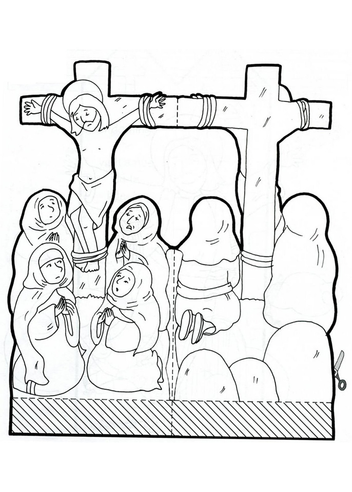 Maqueta de Jesús crucificado