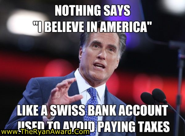 Funny mitt romney picture, swiss bank account