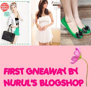 First Giveaway by Nurul's Blogshop