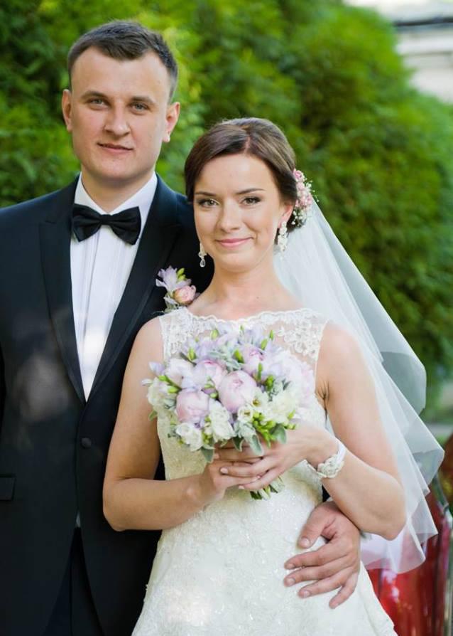 Komplet ślubny sutasz ivory z kryształami Swarovski