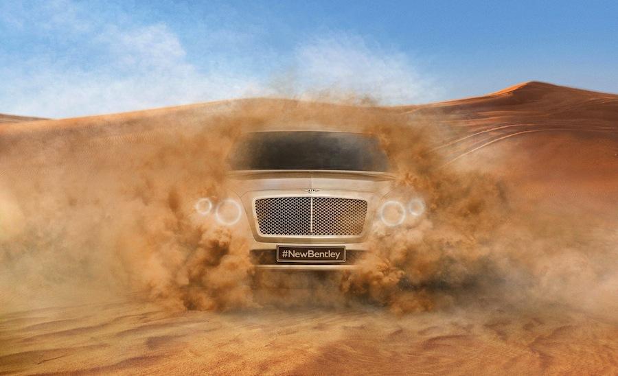 ベントレーが新型SUVの画像を公開