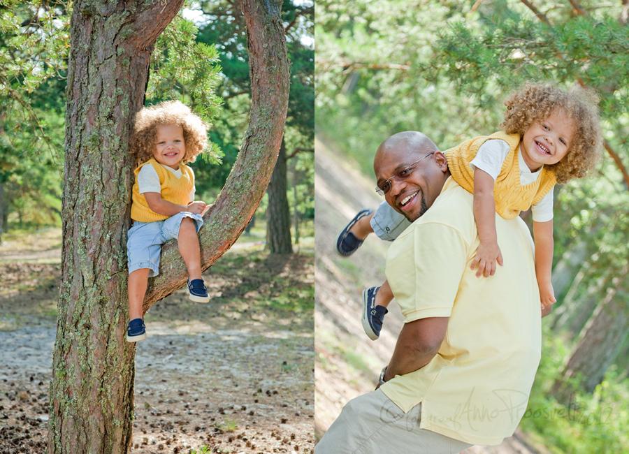 isa ja poeg pildistamas
