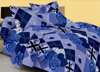 Pepperfry : Buy Blue Cotton Floral Double Bed Sheet Set of 3 on worth Rs. 721 at 369 for JBG Home Store Offer – Buytoearn