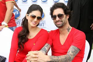 Sunny Leone in red at Dubai