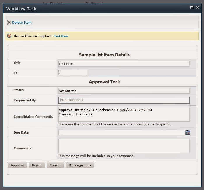 Adding the List Data to a Task Form in InfoPath 2010