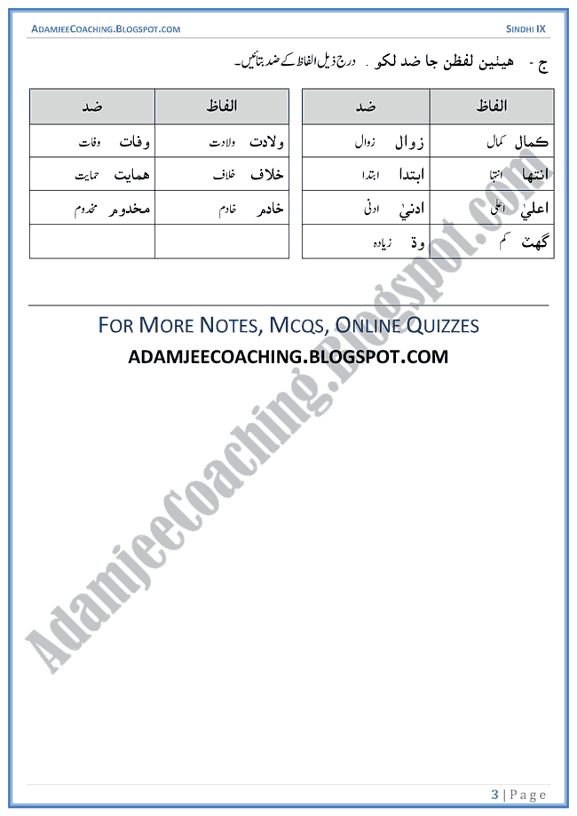 maulana-deen-muhammad-wafai-words-meanings-and-idioms-sindhi-notes-for-class-9th