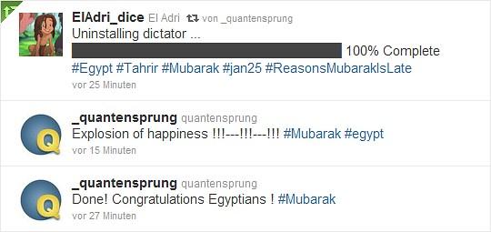 Mubarak ist weg