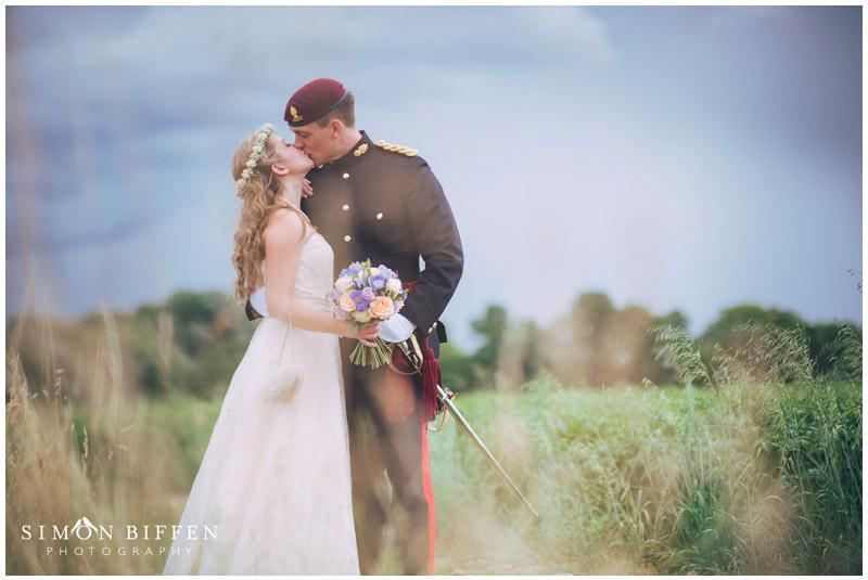 Roughmoor Farm wedding kiss