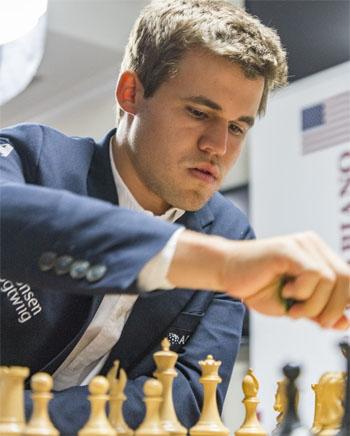 Ronde 5: Magnus Carlsen est de retour après sa défaite de la première ronde © Lennart Ootes
