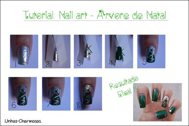 nail art natal, nail art árvore de natal, unhas de natal, unhas de árvore de natal, tutorial, tutorial nail art árvore de natal