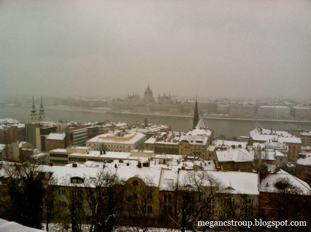 Budapest in the snow on Semi-Charmed Kind of Life