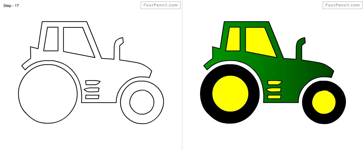 Similiar Easy To Draw Tractor Keywords