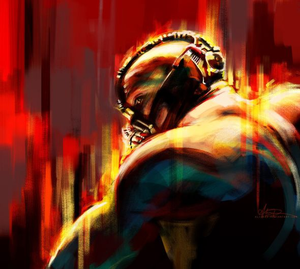 Alice X. Zhang alicexz deviantart pinturas de filmes séries Bane - O Cavaleiro das Trevas Ressurge
